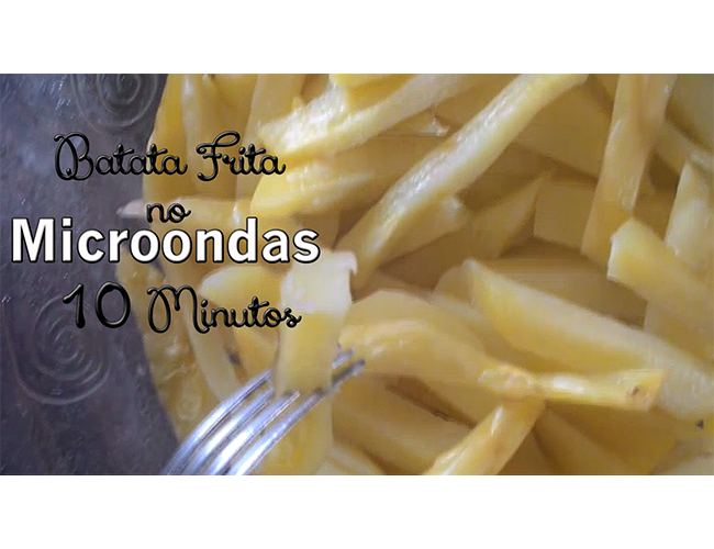 Batata Frita no Microondas Vídeo no Youtube