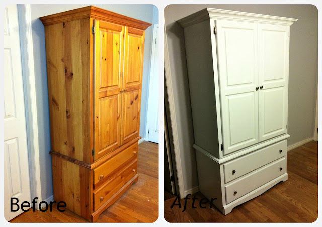 It 39 s our pinteresting life revamped armoire - Revamper armoire melamine ...
