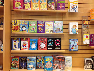 Photo of main display of children's section of book store