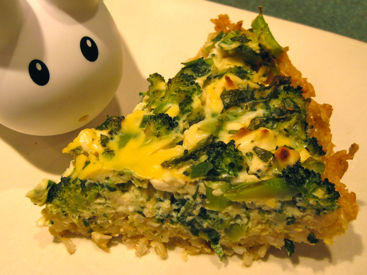 broccoli feta quiche with brown rice crust broccoli quiche with