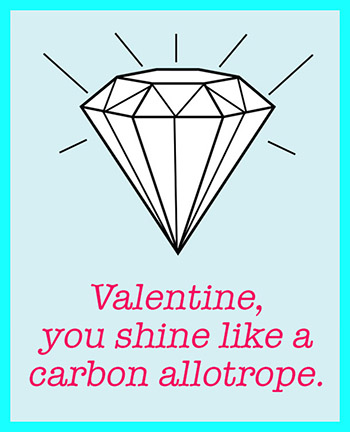 Craftiments: Chemistry Valentine, You Shine Like A Carbon Allotrope.