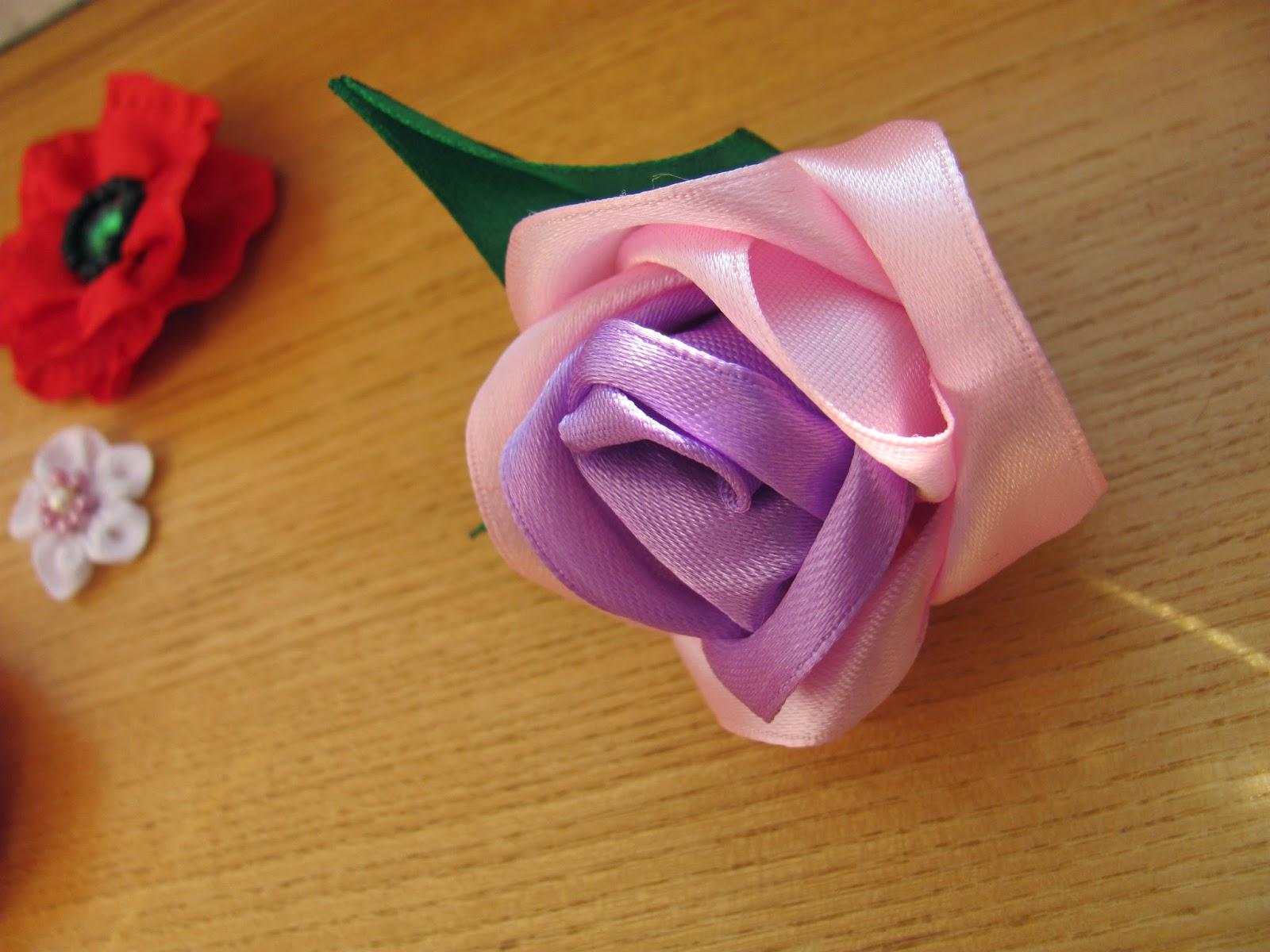 Цветы из лент: 15 простых цветов - Блог Анастасии Скореевой 45