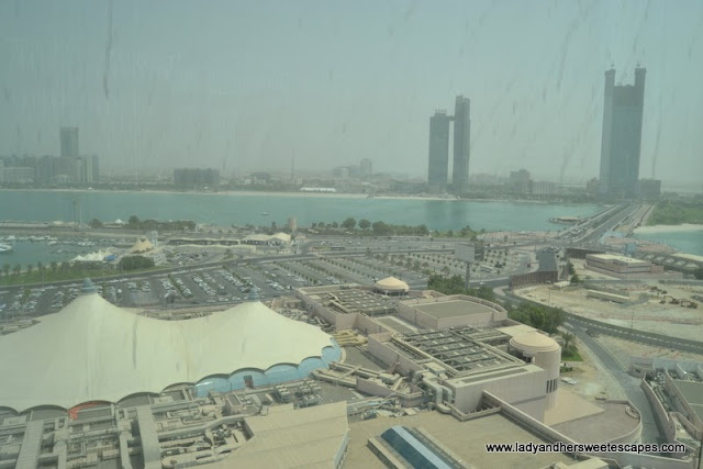 great view of Abu Dhabi's corniche from the scenic elevator