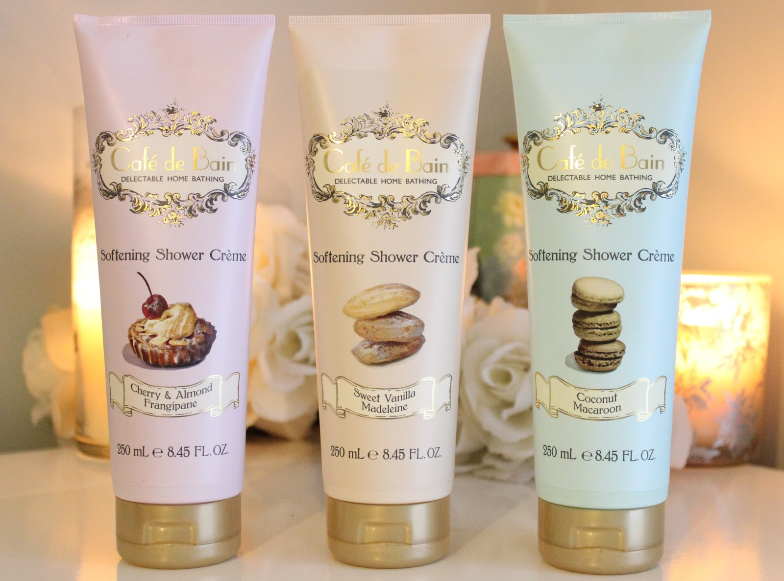Cafe De Bain Shower Cremes at http://www.maisymeow.com/2015/01/sweet-showers-cafe-de-bain-shower-cremes.html