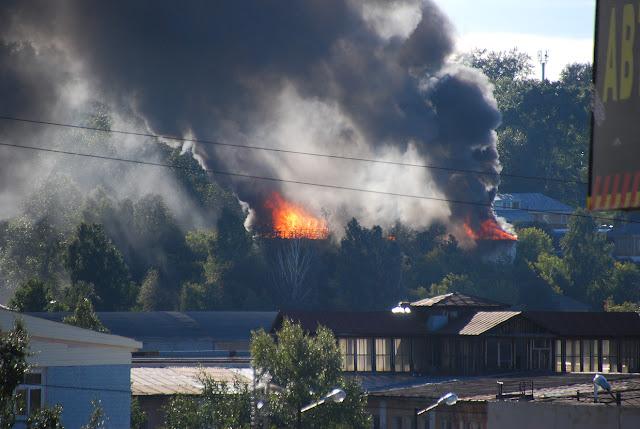 Пожар в Лысьве