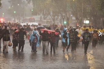 Marcharon atenquenses contra construcción de nuevo aeropuerto de la ciudad de México