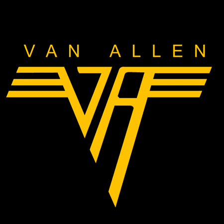 Cleverly edited logo of Van Hallen NASA space program moon landing controversy science astronomy space astronauts apollo