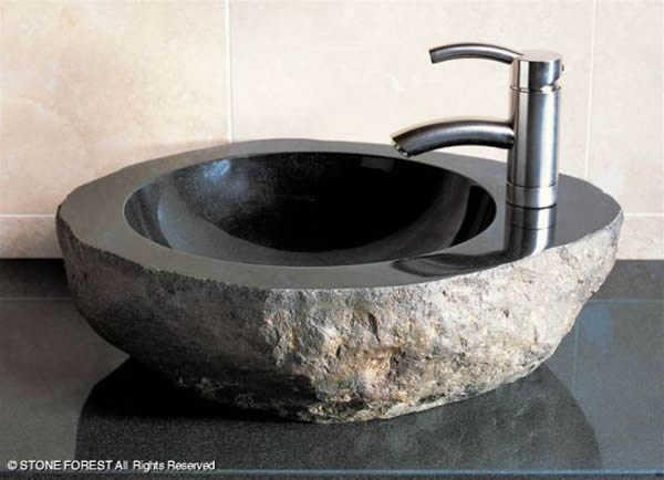 Stones In The Sink : Natural Stone Sink Design Back 2 Home