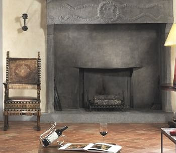 Castello del Nero stone fireplace surround via Castell del Nero website, edited by lb for linenandlavender.net:  http://www.linenandlavender.net/2010/01/design-daily-hotel-feature-castello-del.html