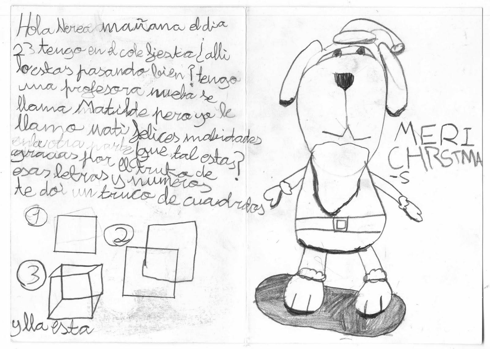dibujos postales navidenas: