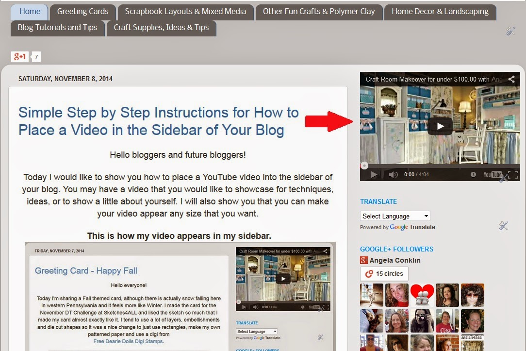 Simple Step by Step Instructions for How to Place a Video in the Sidebar of Your Blog