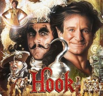 Hook (Released in 1991) - A fantasy film - Starring Dustin Hoffman, Robin Williams, Julia Roberts, Bob Hoskins