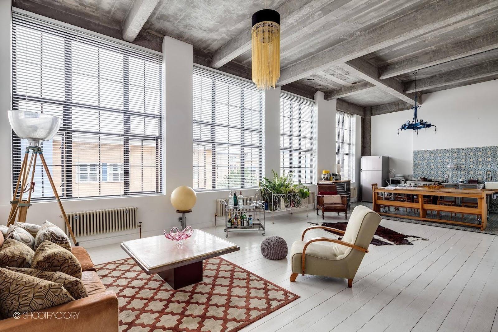 Interior Loft Industrial Retro Muy Personal En Londres