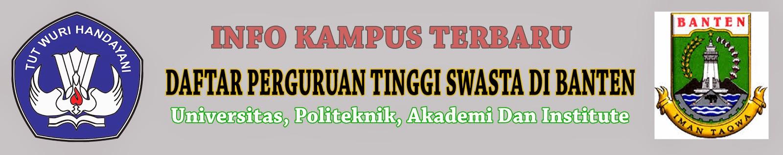Daftar Perguruan Tinggi Swasta Di Banten