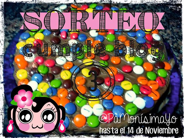 Sorteo 3 cumpleblog @pamonisimayo