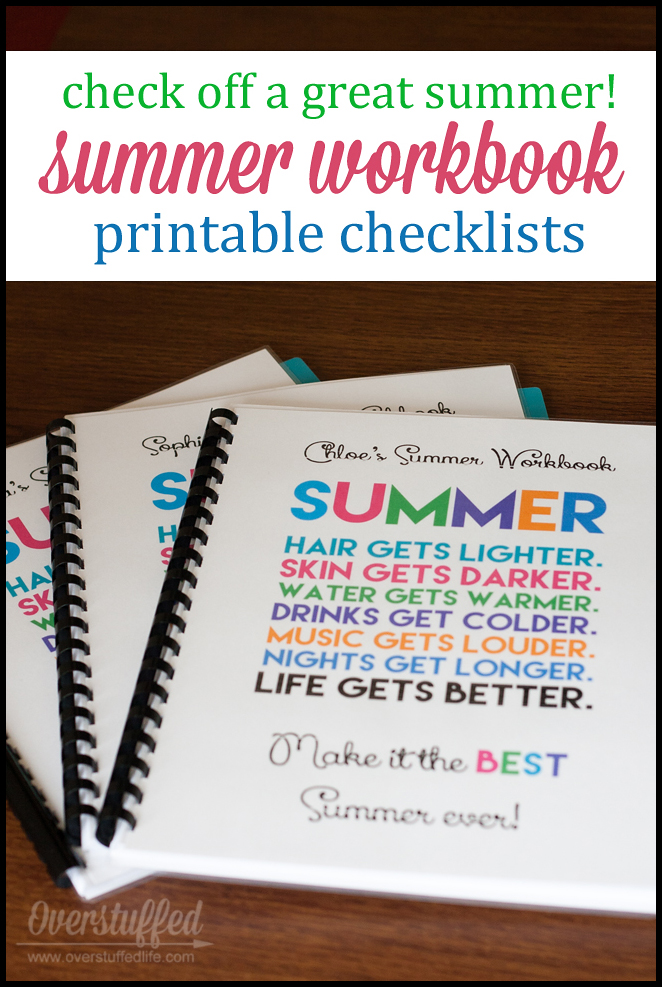 Printable Summer Checklists for Your Kids