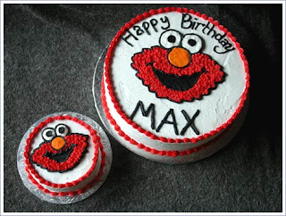 elmo first birthday cake with smash cake