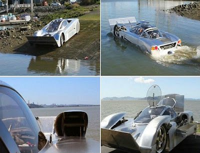 SEA LION: THE AMPHIBIOUS SPORTS CAR WHICH CAN HIT 125MPH ON LAND- AND 60MPH ON THE HIGH SEAS