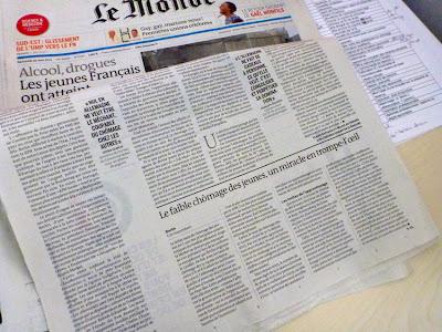 Schlagzeilen von Le Monde