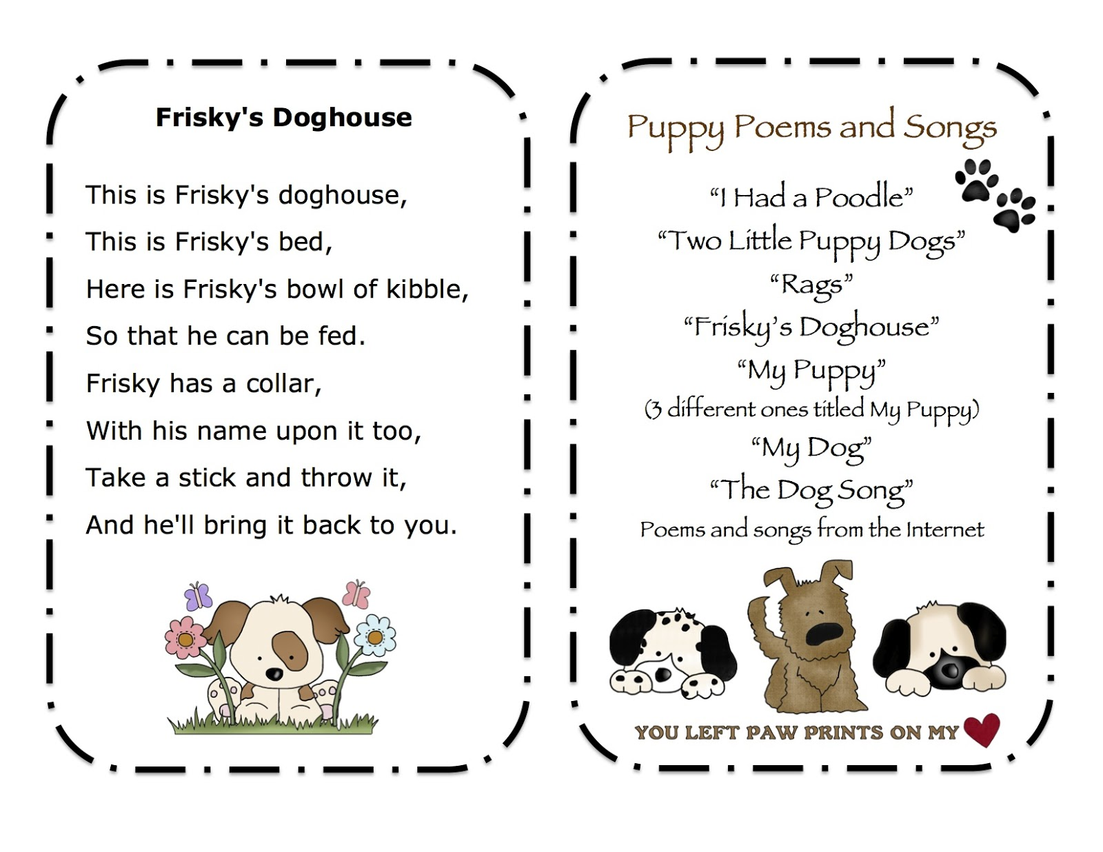dog songs for preschoolers poems for preschool just b cause 783
