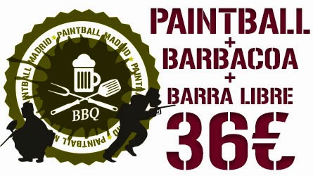 Oferta Paintball más Barbacoa más Barra Libre. Paintball Madrid