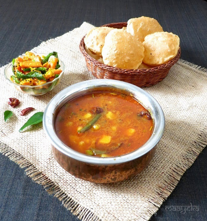 how to make poori bhaji.aloo poori