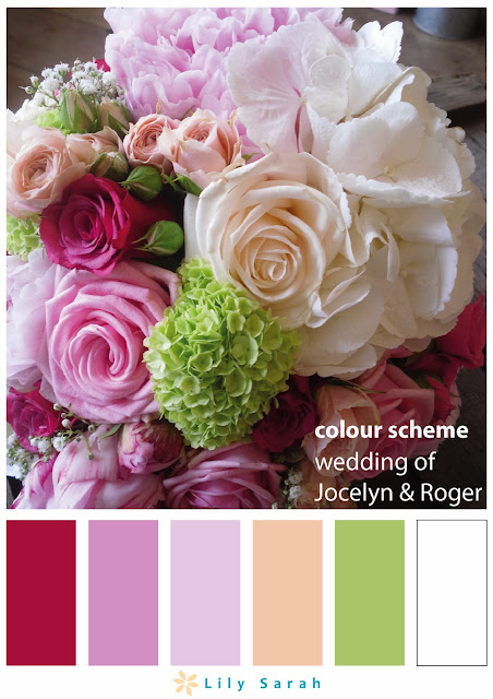 wedding colour scheme by Lily Sarah