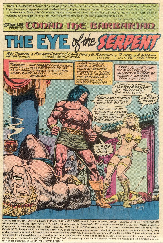 Conan the Barbarian (1970) Issue #81 #93 - English 2