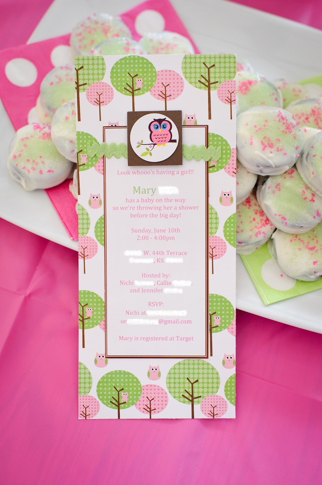 baby shower food ideas baby girl shower ideas owl theme