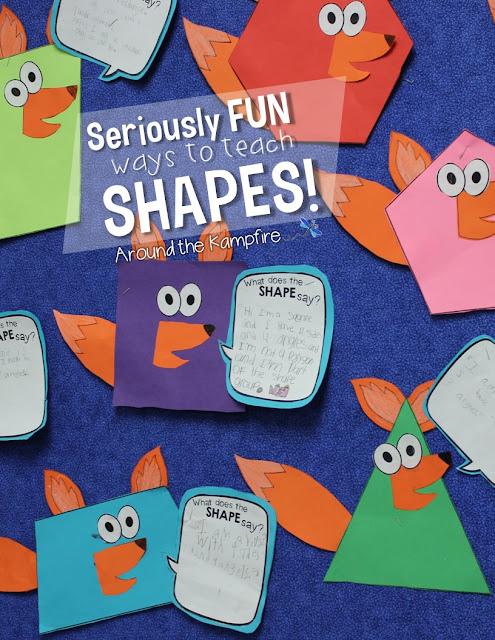 Seriously FUN Ways to Teach Shapes! Around the Kampfire