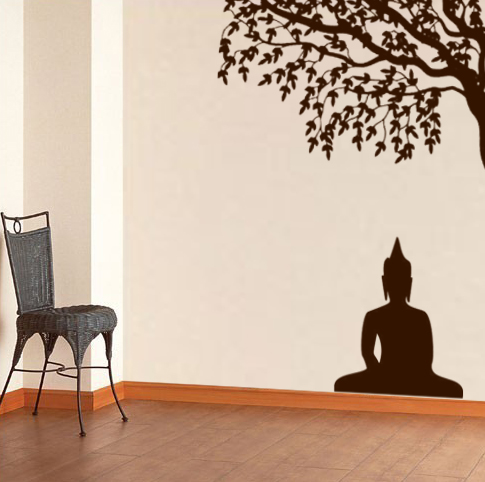 the wall decal blog not sticker tattoo art stickers buddha statue sitting  figure decor