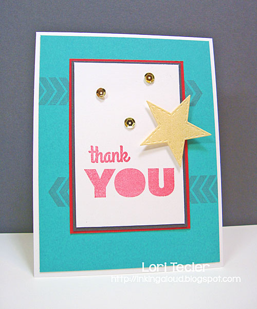 Bold Thank You card-designed by Lori Tecler/Inking Aloud-stamps from My Favorite Things