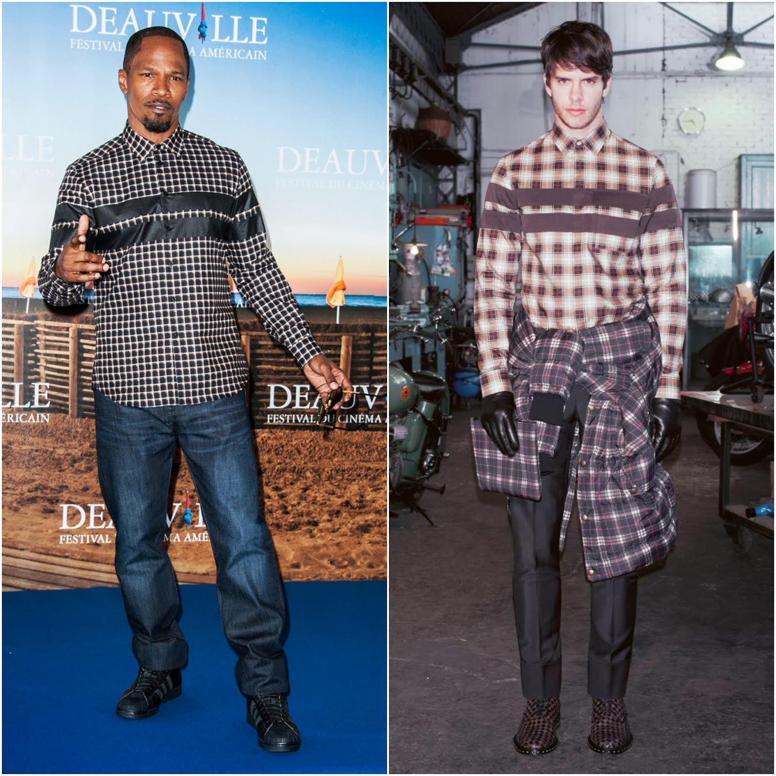 00O00 Menswear Blog: Jamie Foxx in Givenchy - 'White House Down' Photocall, 39th Deauville American film festival