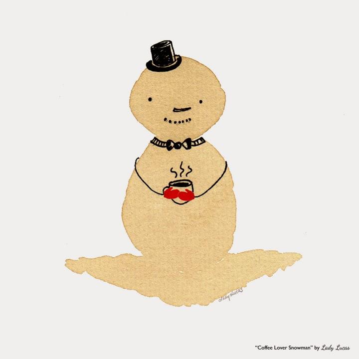 Coffee Lover Snowman by Lady Lucas | #25DaysofSnowmen