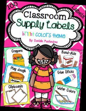 https://www.teacherspayteachers.com/Product/Classroom-Supply-Labels-Bright-Colors-Theme-1151795