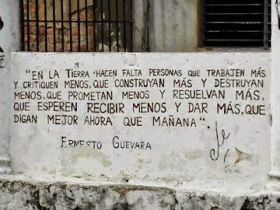 """Graffiti con frase del """"Che"""" Guevara"""
