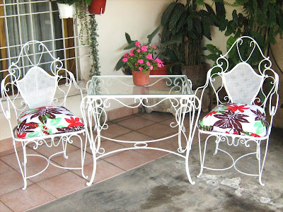 So glittering la silla de hierro forjado for Sillas de jardin de hierro