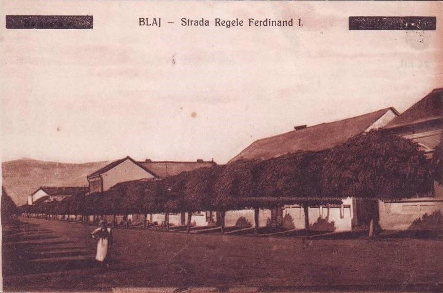 Strada Regele Ferdinand din vechiul Blaj