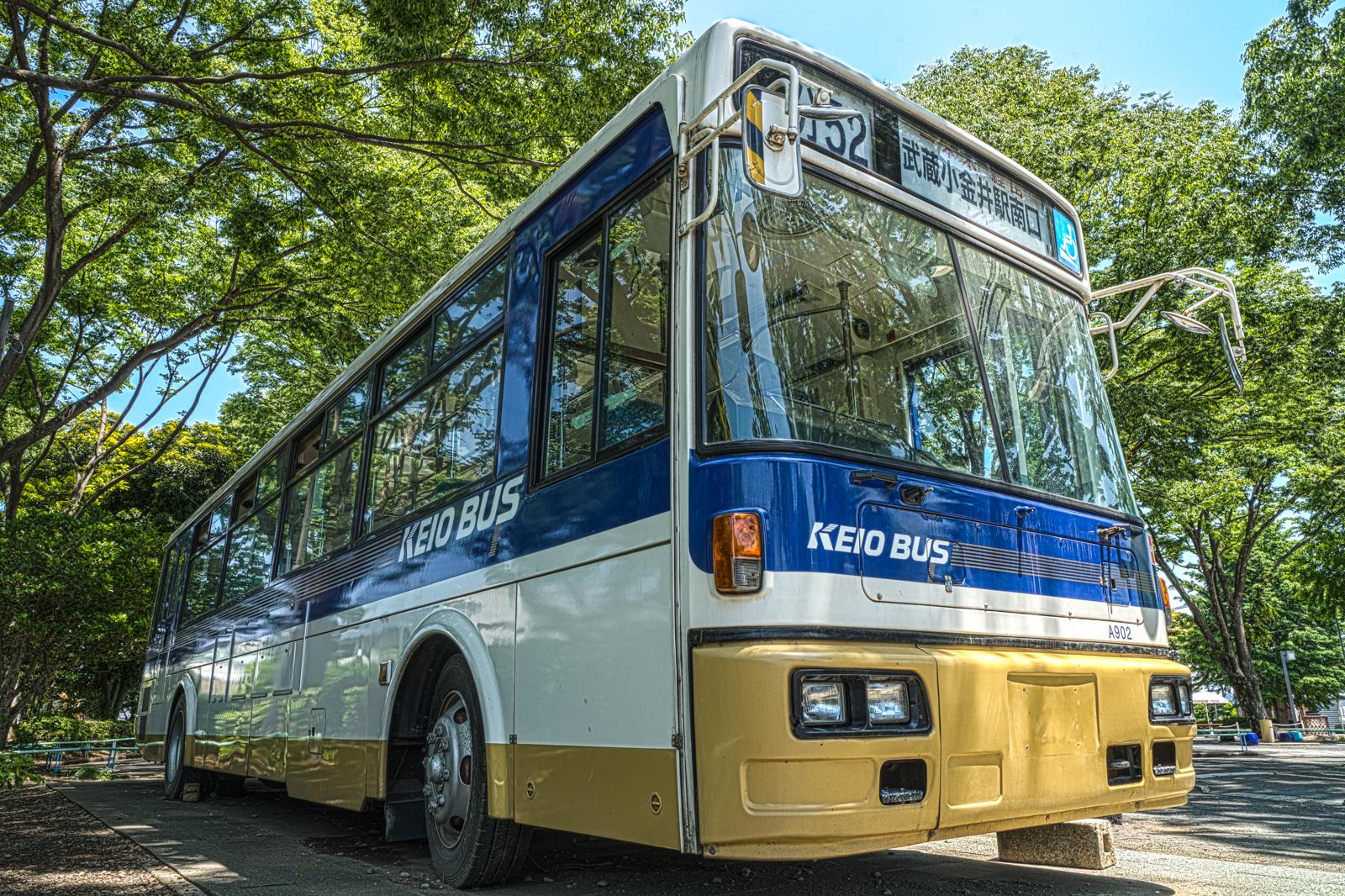 府中市交通遊園の京王バス 日産ディーゼル KC-JP250NTNの写真 HDR