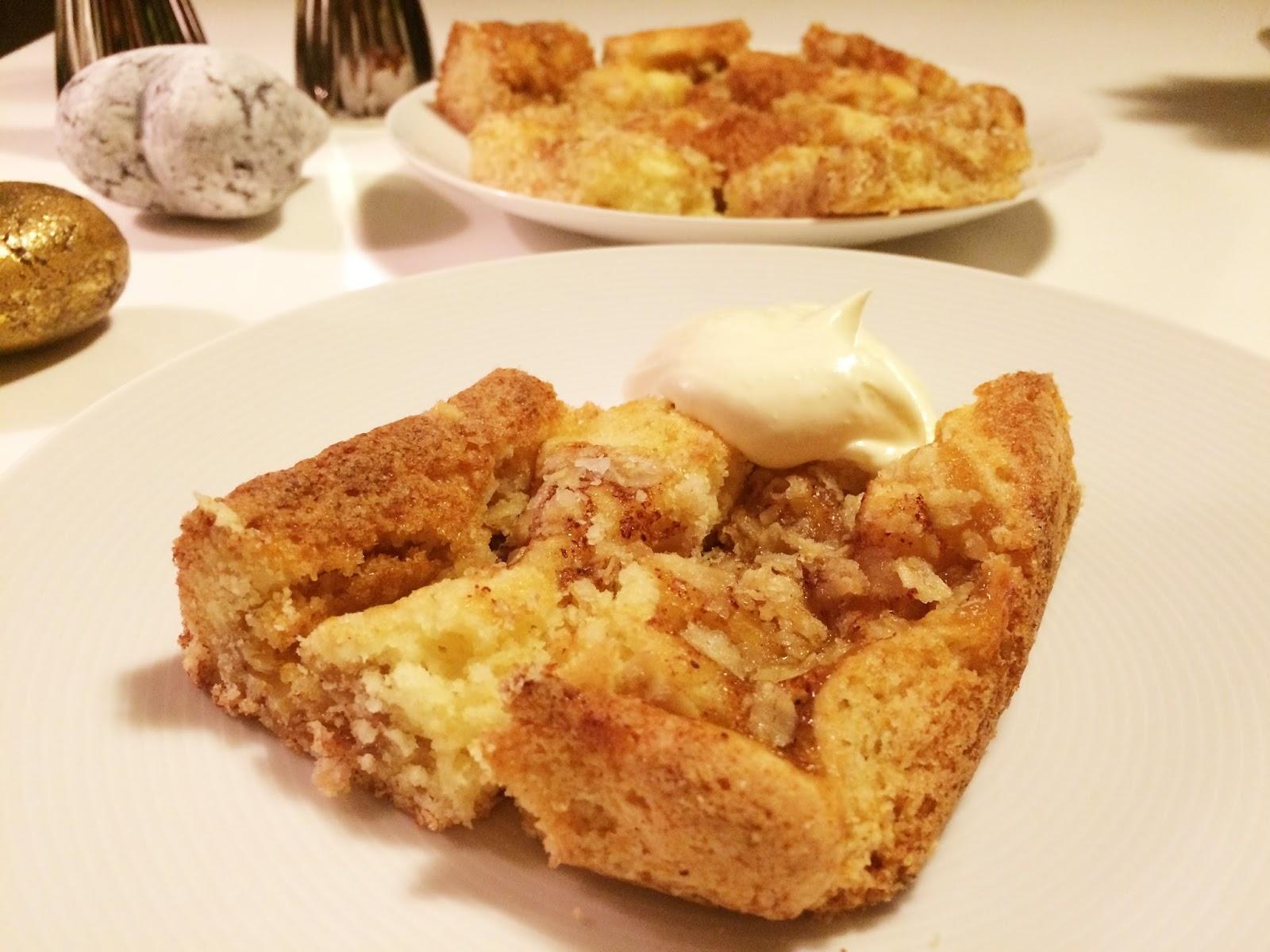glutenfri äppelkaka med havregryn