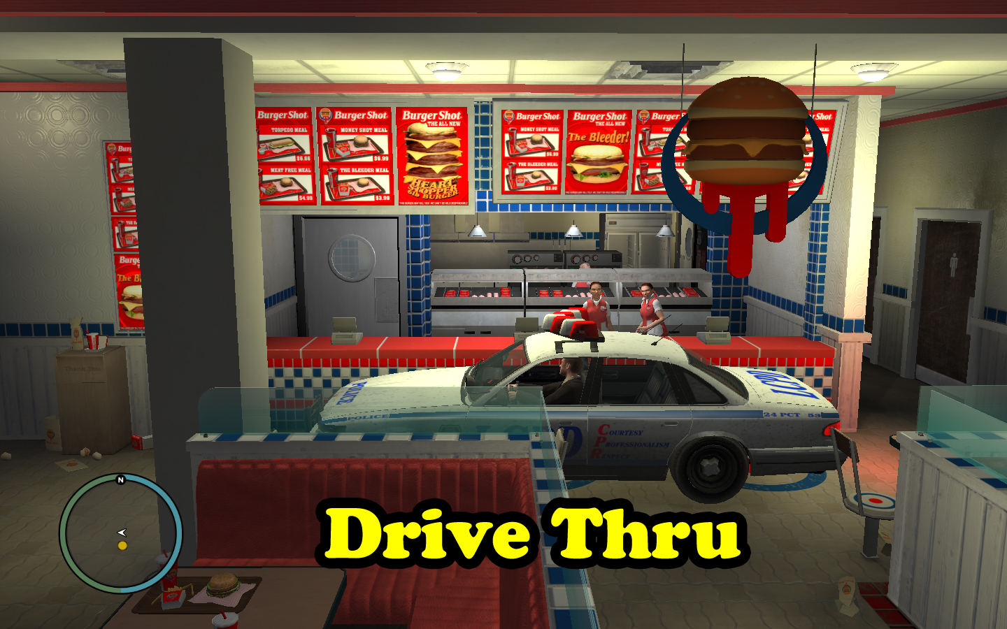 gta iv drive thru