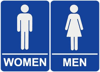 As The Worm Turns Restroom Signs