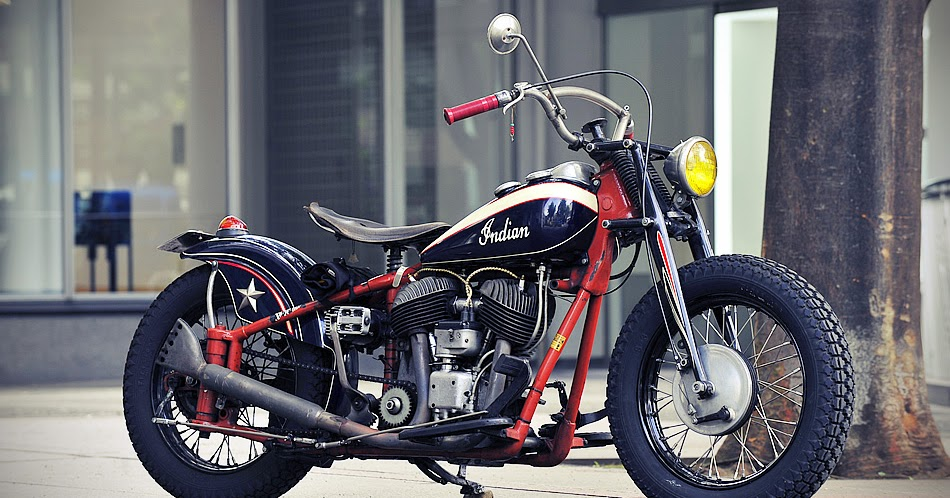free the wheels     1947 Indian Chief