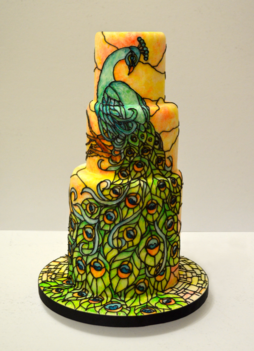 The Nicest Stained Glass Pea Wedding Cake Ever