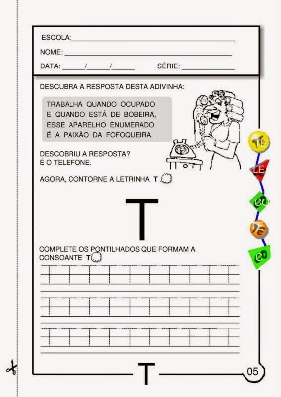 1 186 ano atividades de portugu 234 s a letra t escolar