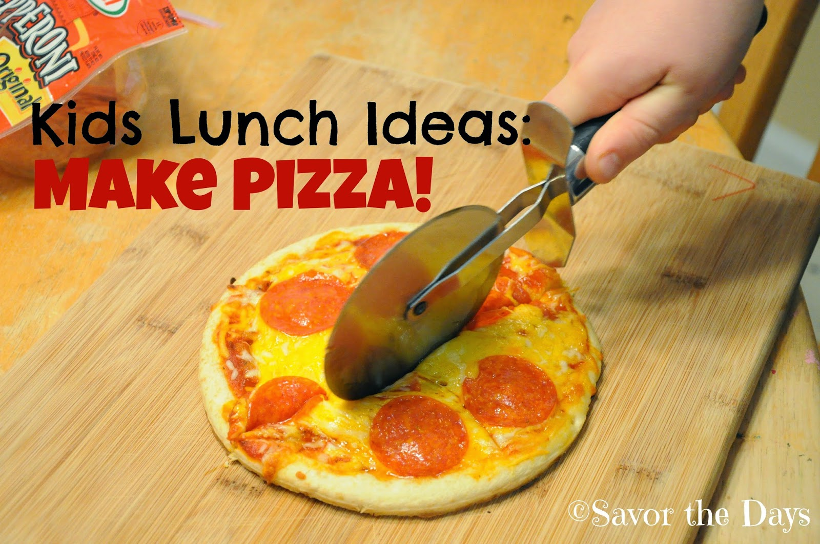 Summer Lunch Ideas for Kids: Make Pizza!