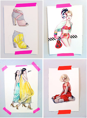 katie rodgers, paperfashion, illustration, fashion