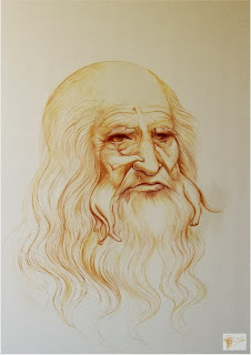 Leonardo Da Vinci optical illusion Portrait