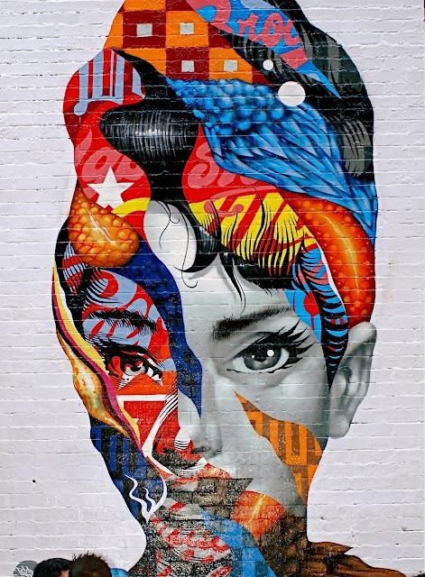 Nyc nyc audrey hepburn and temper tot murals on for Audrey hepburn mural
