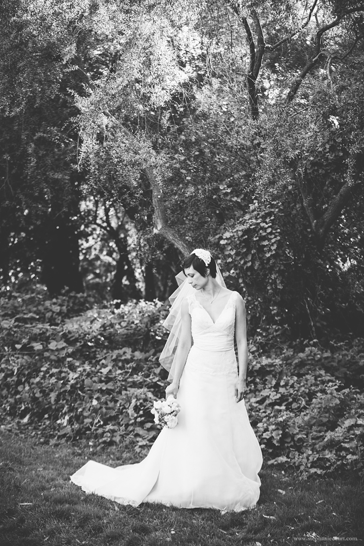 """black and white bridal portrat san francisco"""